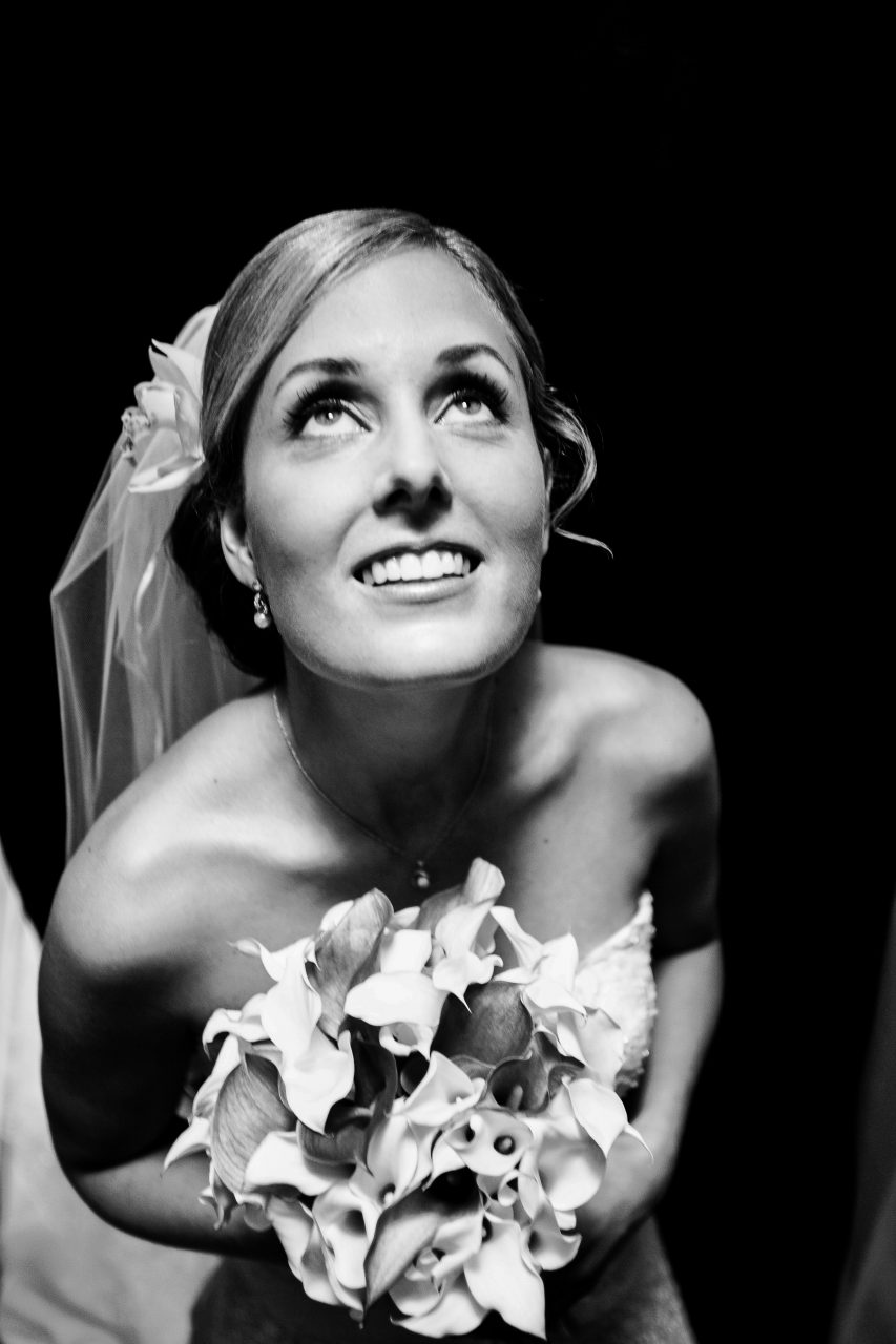 Bridal Portrait B&W