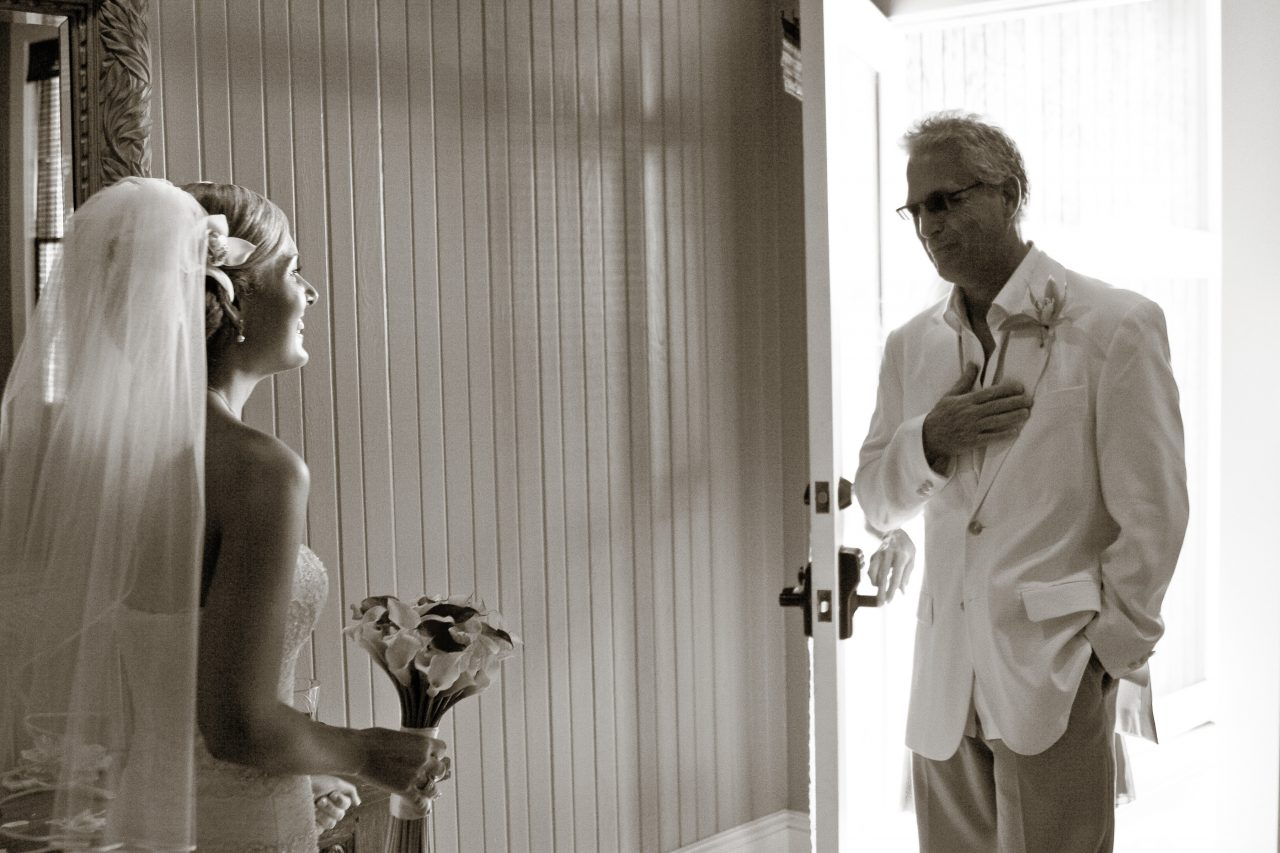 Father and Bride on wedding day