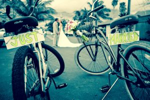 just married bicycles