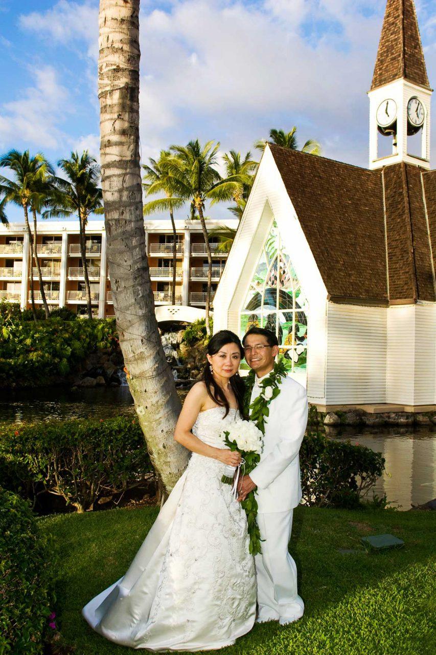 Maui Couple Posing by Church